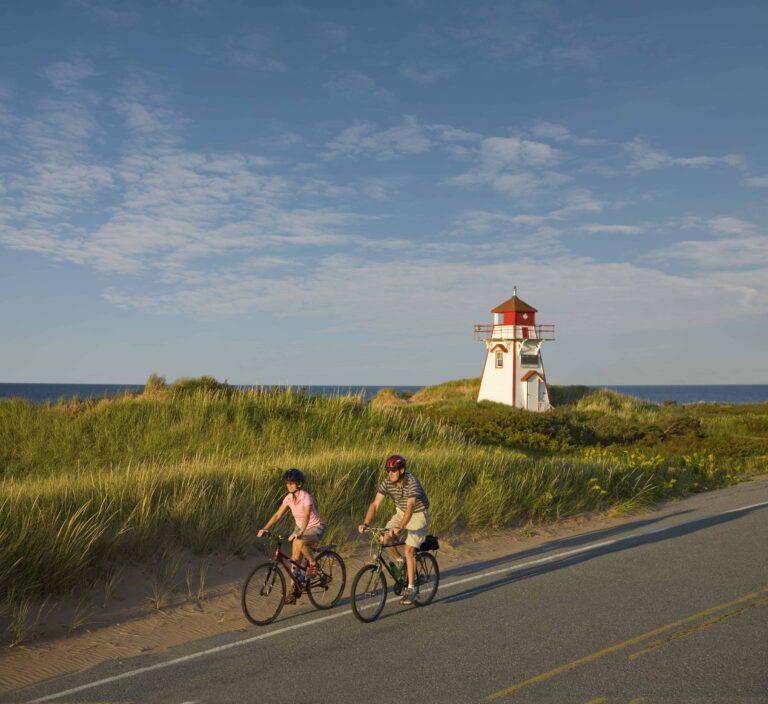 Radfahrer auf Prince Edward Island