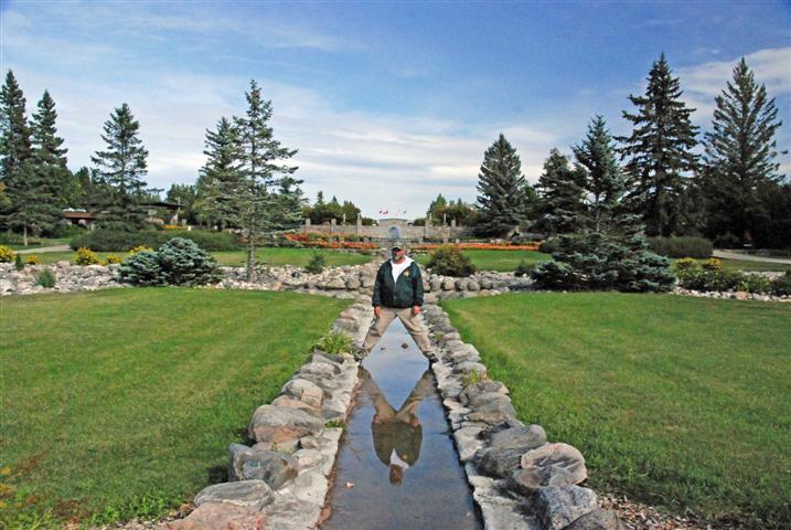 Auf der Grenze zwischen Manitoba und North Dakota: der International Peace Garden