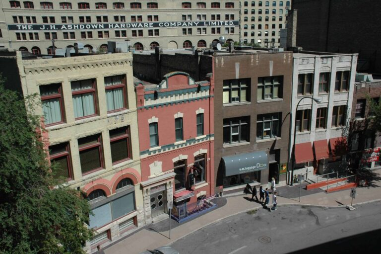 Häuserzeile im Exchange District von Winnipeg