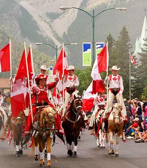 Parade zur Feier des Canada Day in Banff, Alberta (c) Town of Banff