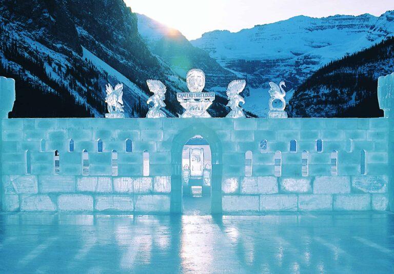 Schloss aus Eis am Lake Louise
