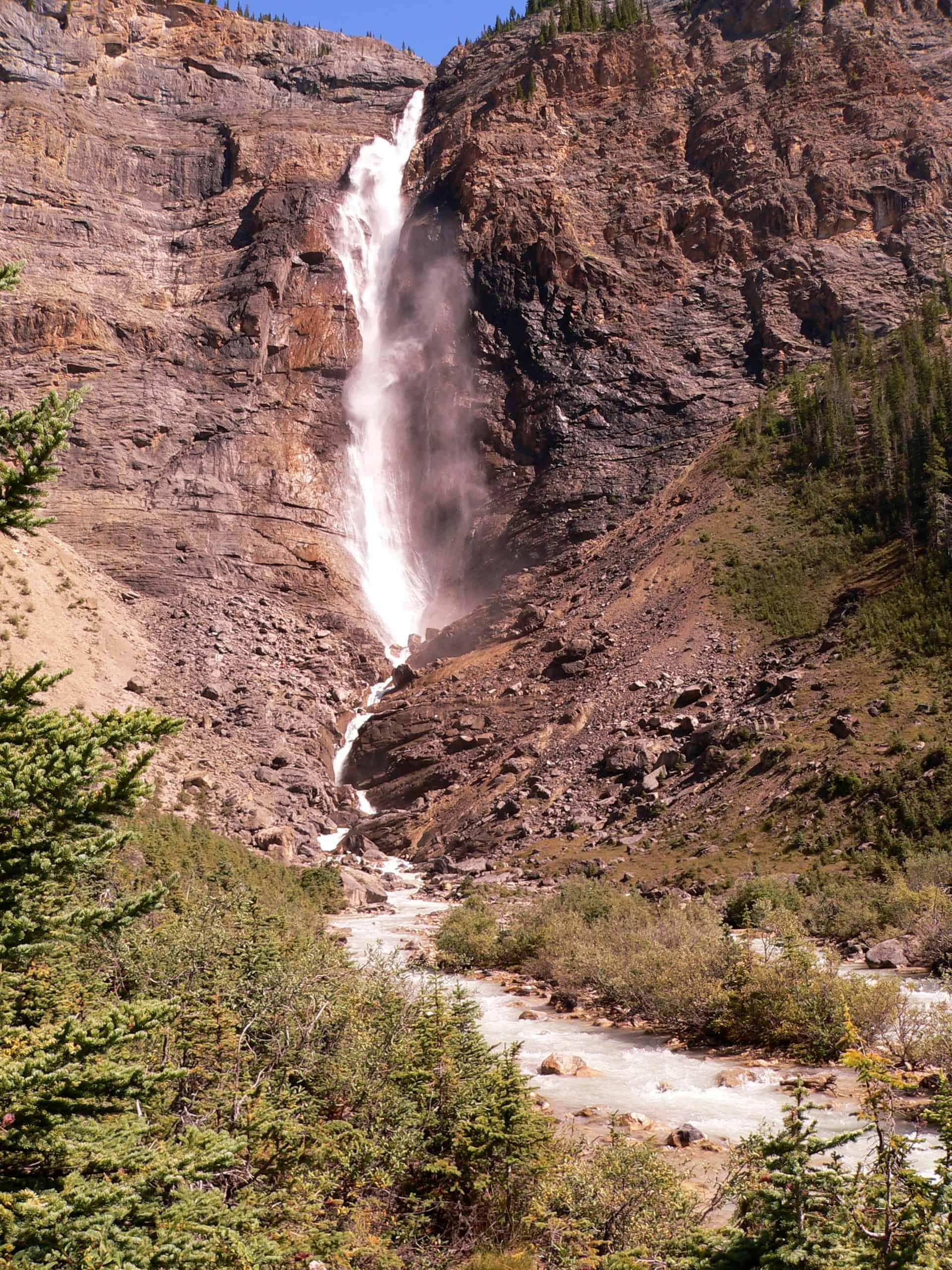 Westkanadas Zweithöchster Wasserfall Die Takakkaw Falls