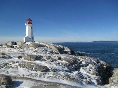 Peggy S Cove Und Der Berühmte Leuchtturm An Der St Margarets Bay
