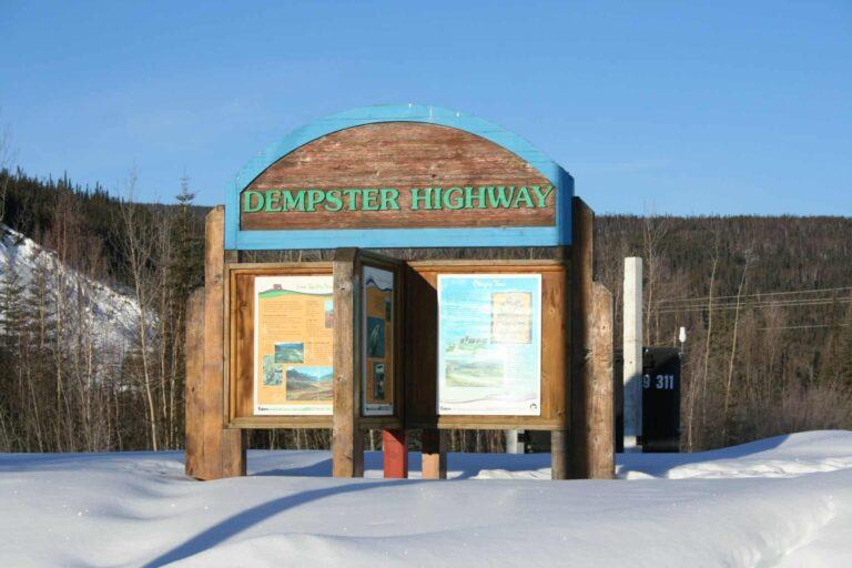 Dempster Highway Hinweisschild