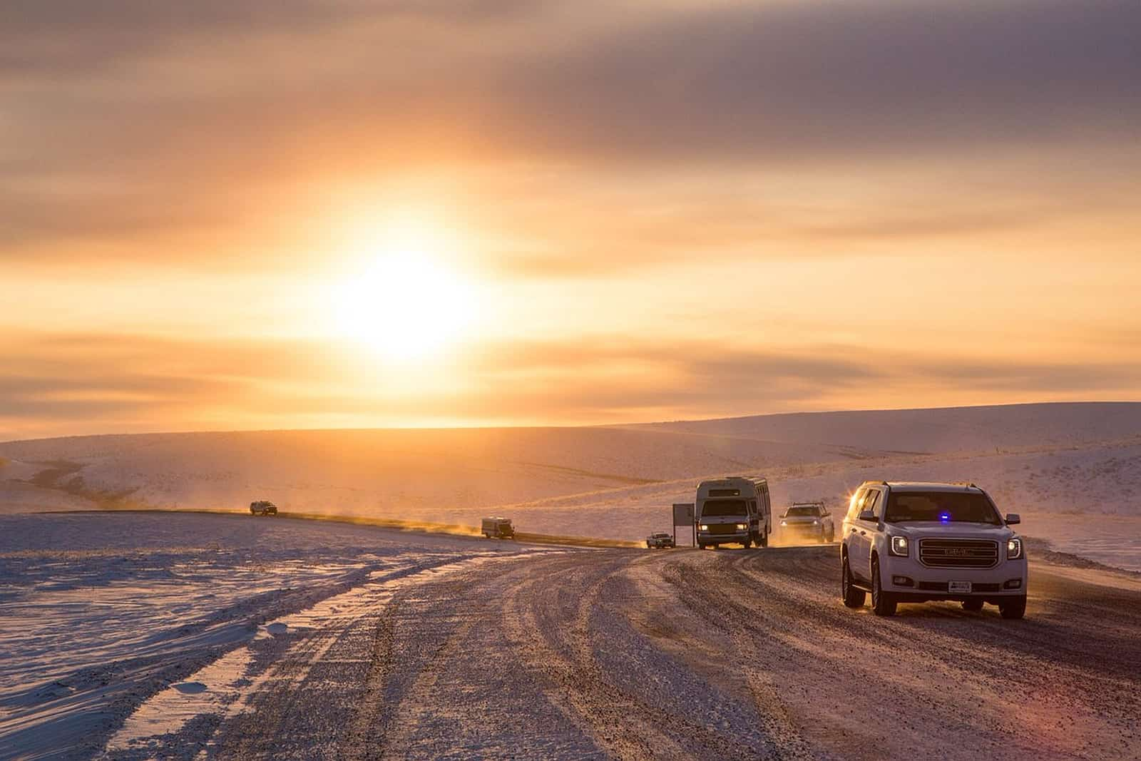 Lange erwartet ist der Inuvik Tuktoyaktuk Highway (ITH) seit November 2017 in Betrieb. Foto Government of Northwest Territories