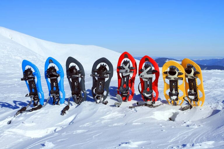 Moderne Schneeschuhe.