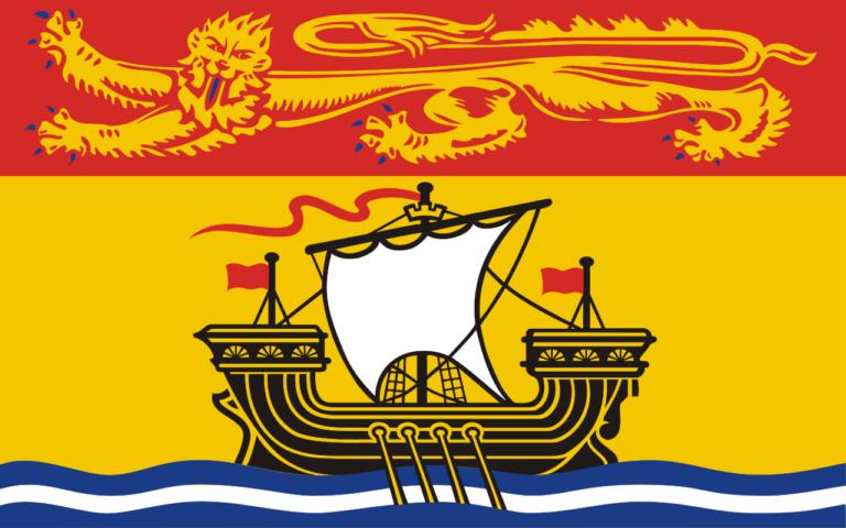 Die Flagge der maritimen Provinz New Brunswick.