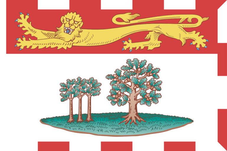 Die Flagge der maritimen Provinz Prince Edward Island.