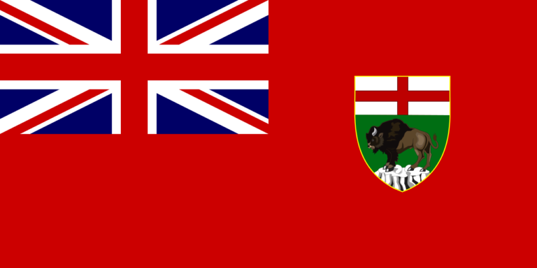 Die Flagge von Manitoba.