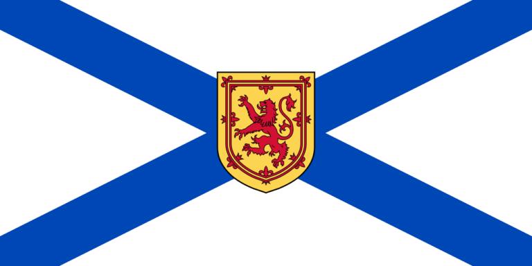 Die Flagge der Atlantikprovinz Nova Scotia.