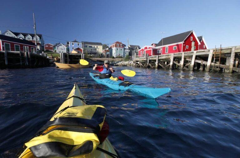 Kayaking in Lunenburg, Nova Scotia, Canada.