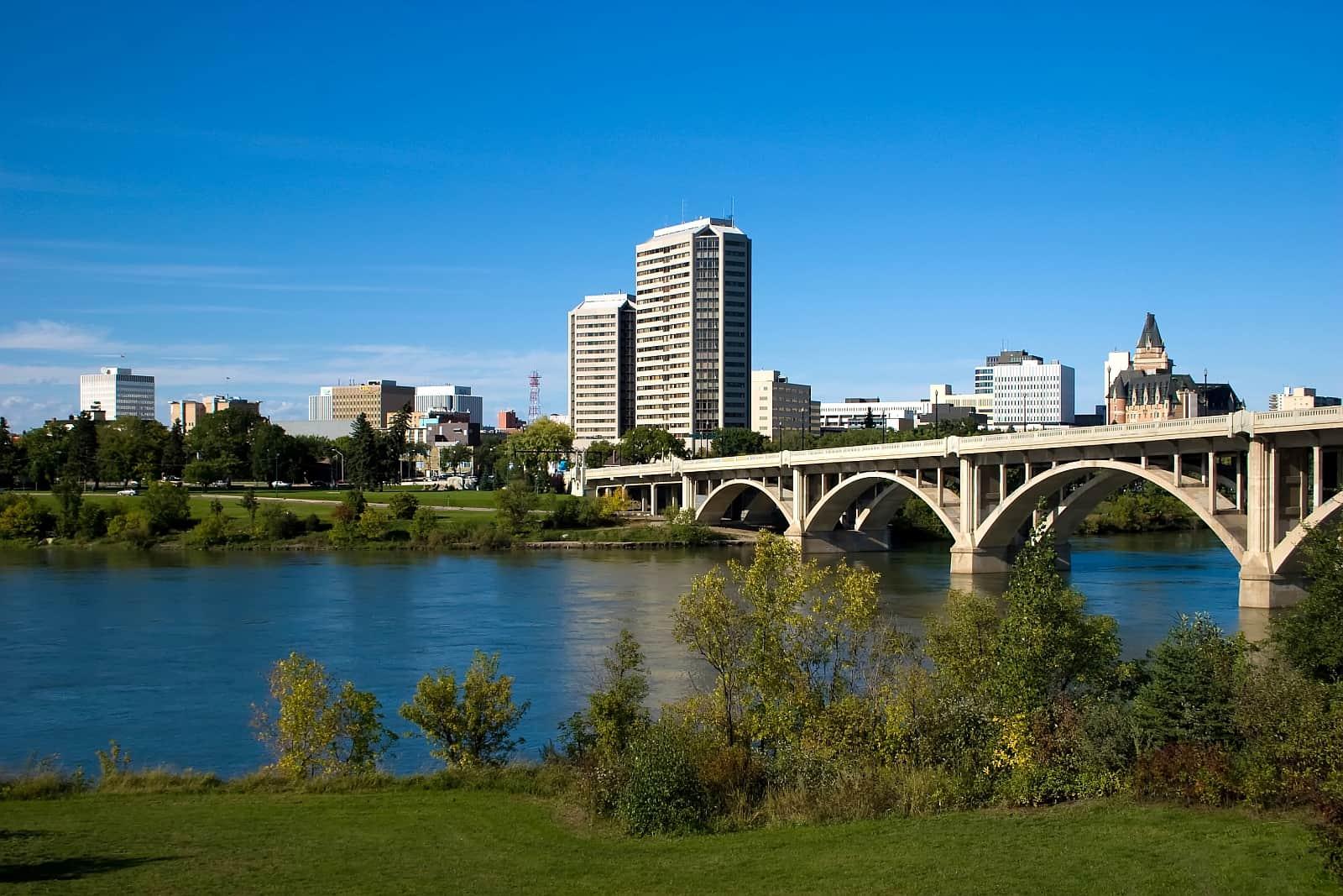 Saskatoon, die größte Stadt der Prärieprovinz Saskatchewan.