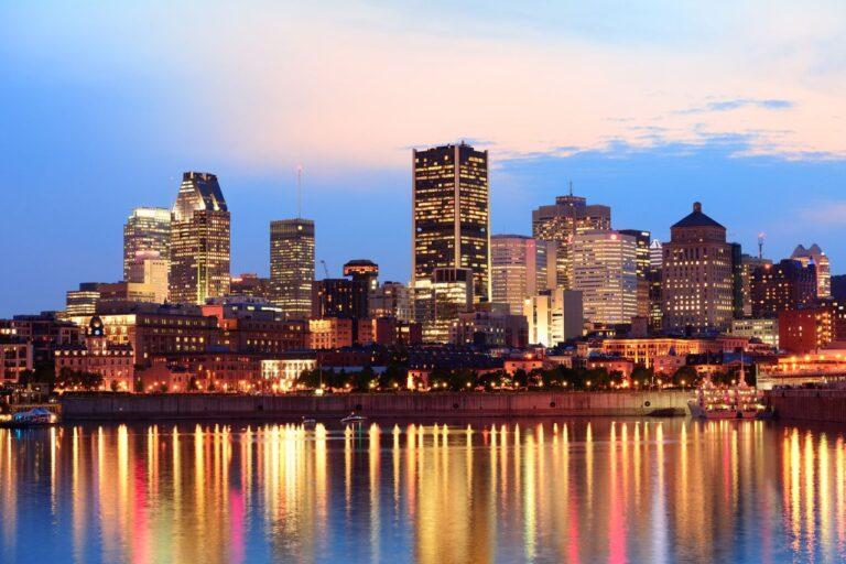 Ein Blick auf die Skyline von Montréal bei Nacht. Foto rabbit75_dep / Deposit