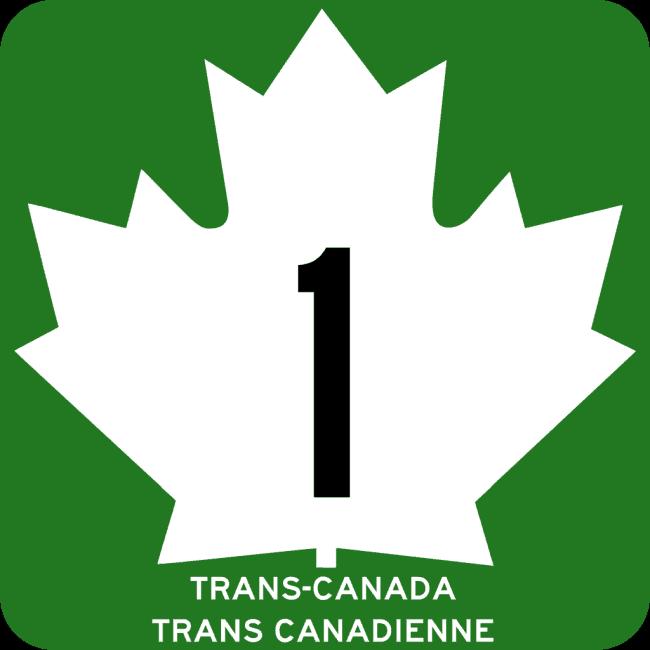 Straßenschild TransCanadaHighway