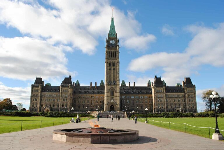 Das Parlament in der Hauptstadt Ottawa