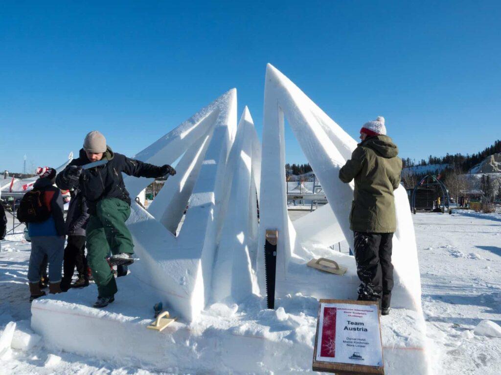 Team Austria kann im Yukon vor der Jury punkten. Foto Tobias Barth