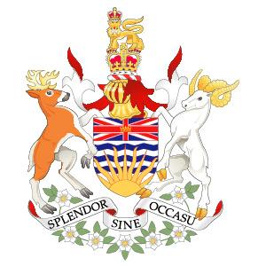 Wappen der kanadischen Provinz British Columbia