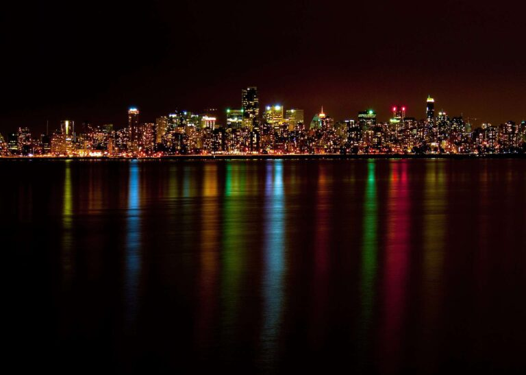 Vancouver - Skyline bei Nacht