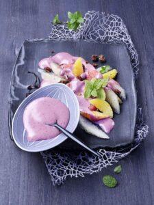 Savour Canada: Zitrusfruchtsalat mit Blaubeer-Sabayon