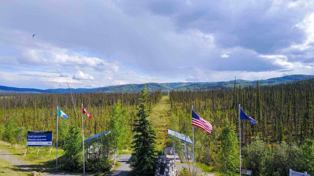 Grenze zwischen Kanada und den USA - Foto Tobias Barth