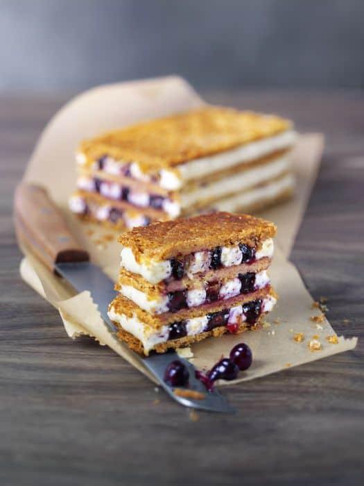 Savour Canada: Blaubeer Mille Feuille mit Aprikosen und Kardamom. Foto: Wild Blueberry Association of North America (WBANA)