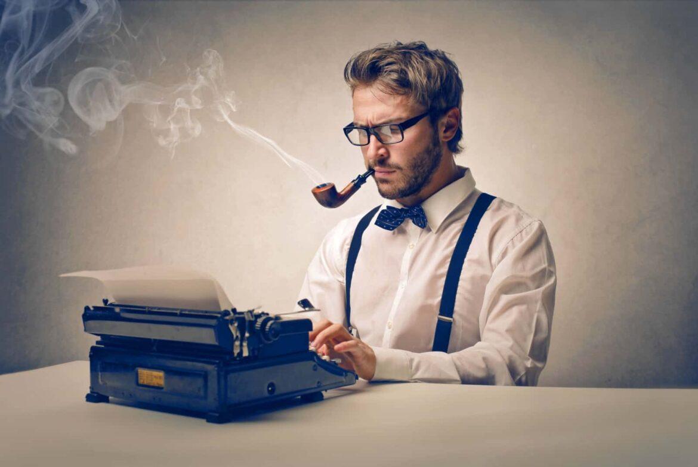 Schriftsteller an Schreibmaschine Gastautor Faszination Kanada