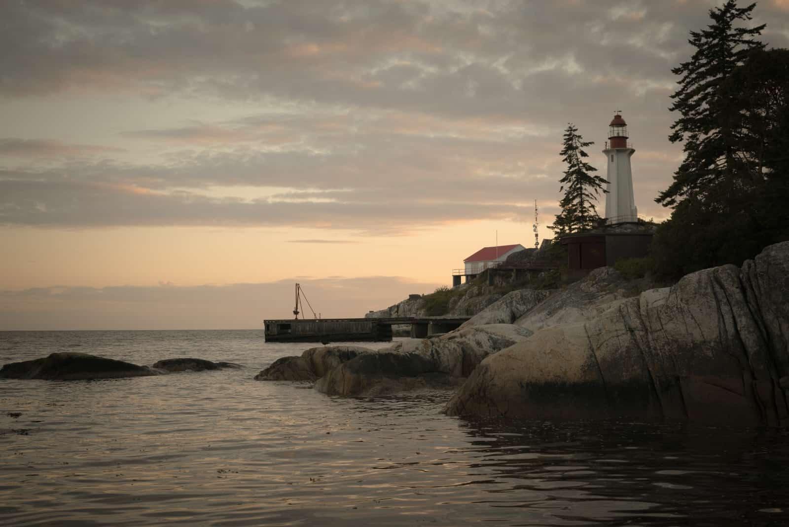 Leuchtturm im Lighthouse Park Vancouver Foto blakerandall81