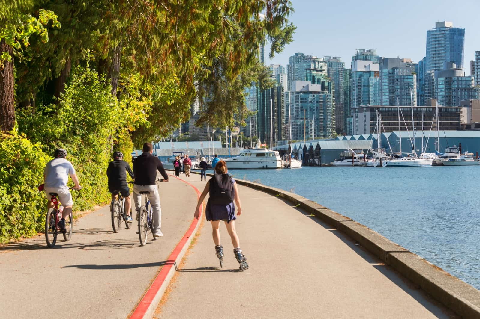 Seawall und Stanley Park Vancouver Foto Mbruxelle