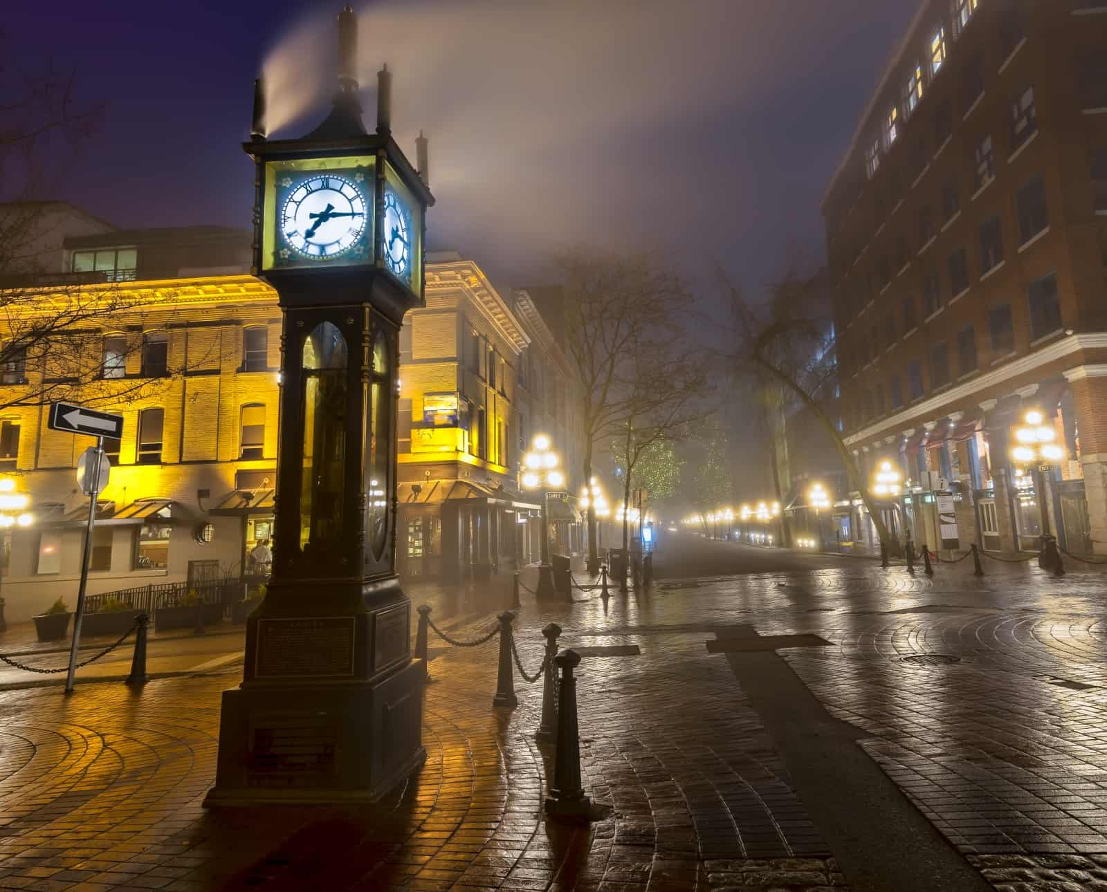 Vancouver Gastown mit der berühmten Steam-Clock Foto JamesWheeler