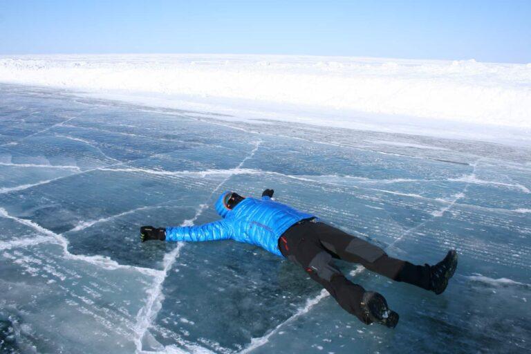 Auf der Iceroad, eine der Stationen von Tobi's Reise quer durch Kanada.