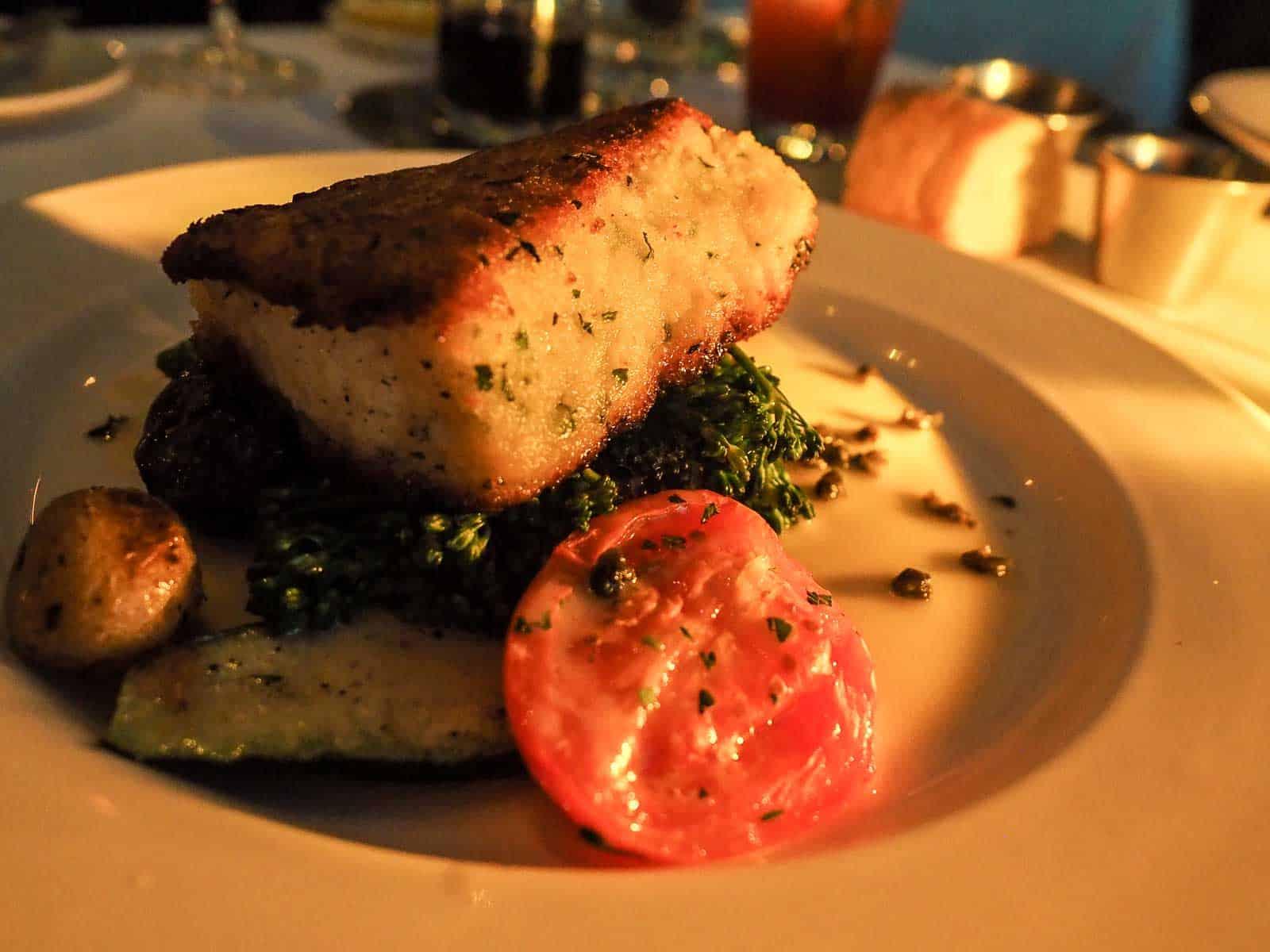 Sablefisch, ein leckerer Abschluss eines wunderschönen Abends im Teahouse in Stanley Park. FotoTobias Barth