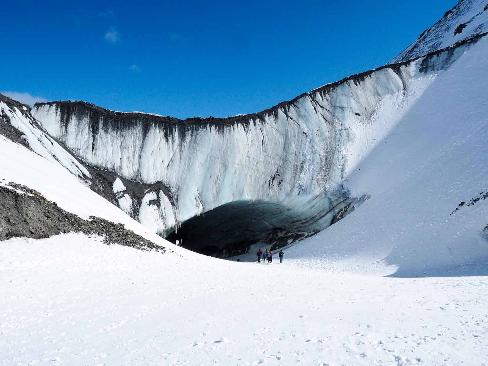 Die Wanderung zu diesem eindrucksvollen, namenlosen Gletscher lohnt sich. Foto Faszination Kanada