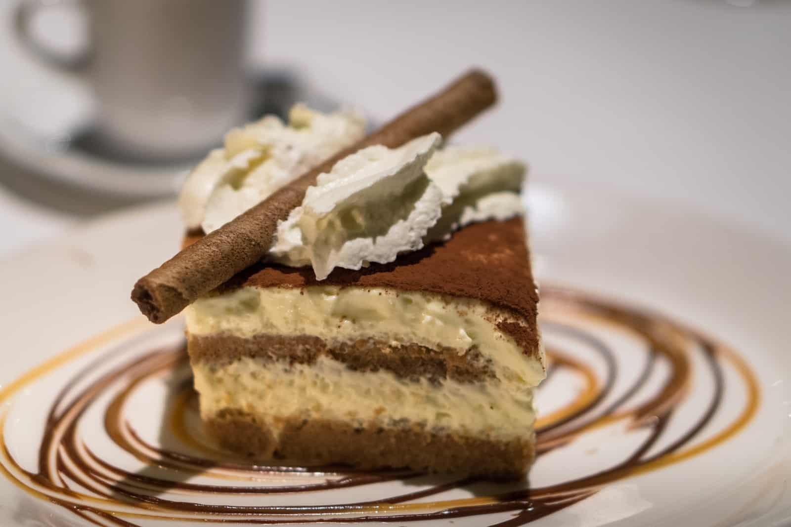 Ein Dessert beschliesst den kulinarischen Abend, Tiramisu. Foto