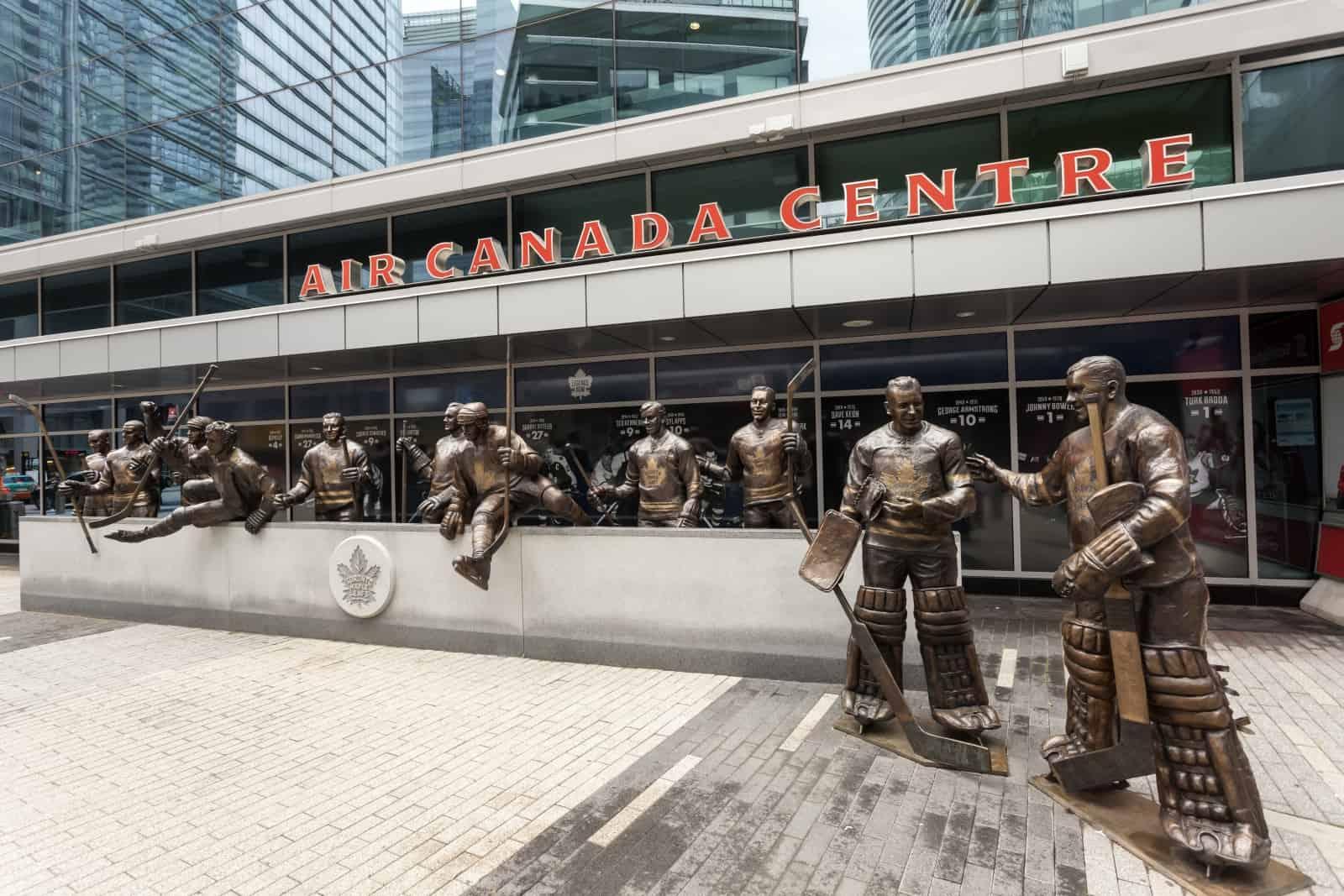 Blick auf das Air Canada Centre, ab Juli 2018 Scotiabank Centre. Foto p.lange