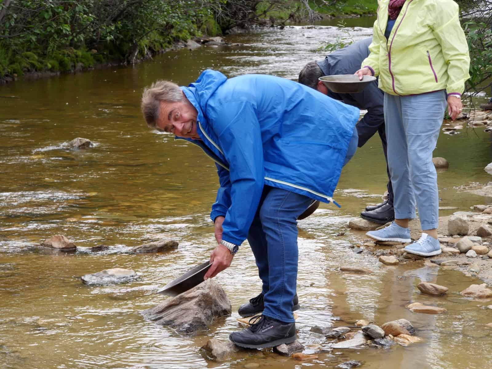 Goldrausch-Feeling am Claim #6 am Bonanza Creek, dem Ort an dem der große Klondike Goldrush seinen Anfang nahm. Foto FasziKa