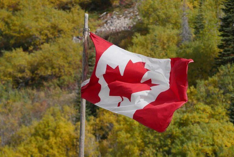Wehende Kanada Flagge