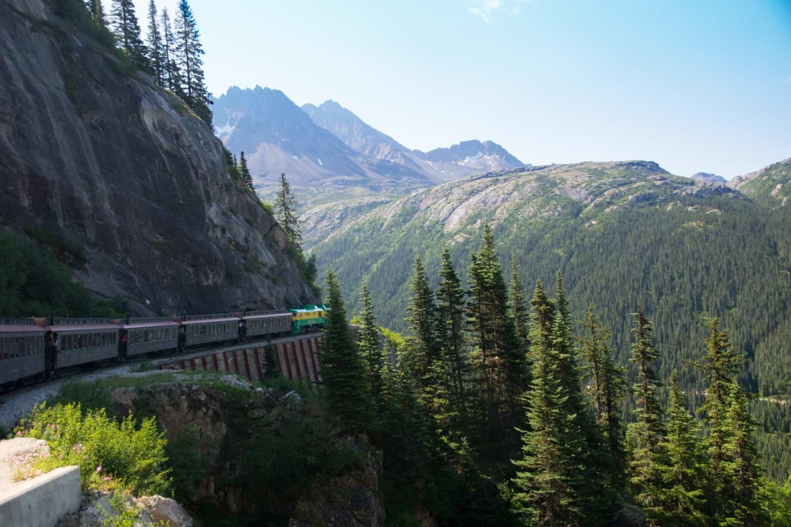 Eine grandiose Fahrt mit dem White Pass Trail, welch ein herrliches Panorama. Foto Daniela Ganz