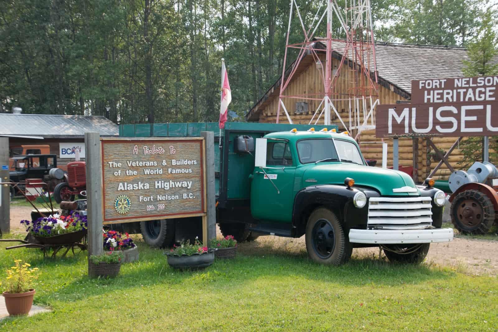 Die Geschichte des Baus des Alaska Highways und der Gasförderung in Northern BC wird im Fort Nelson Heritage Museum eindrucksvoll ausgestellt. Foto Daniela Ganz