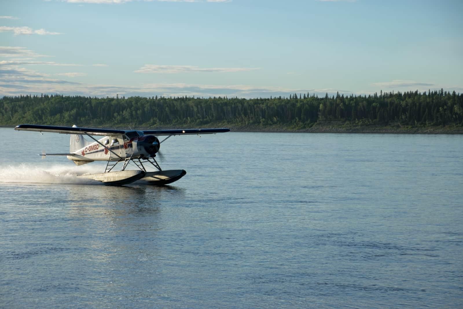 Das Verkehrsmittel in dieser Ecke der Northwest Territories ist das Wasserflugzeug. Foto Daniela Ganz