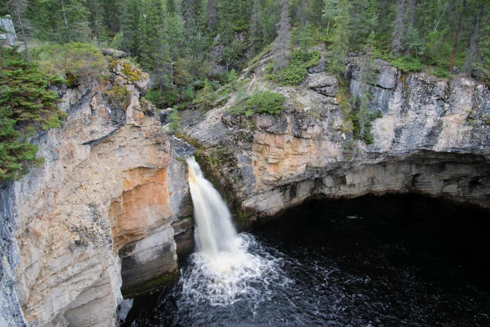 Kurz danach stehen wir an den kleineren McNallie Falls. Foto Daniela Ganz