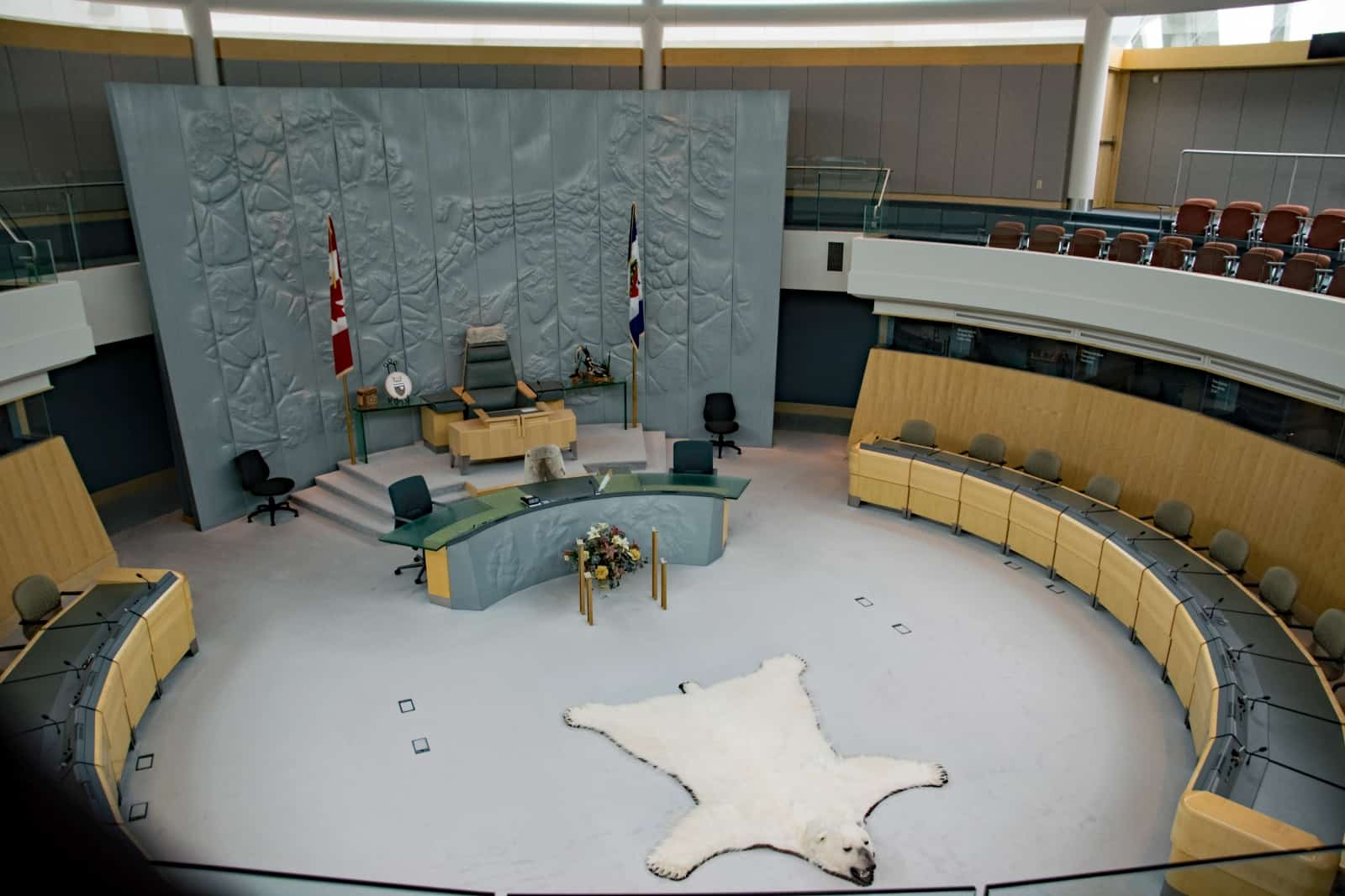 Chamber im Legislative Assembly Yellowknife. Foto Daniela Ganz