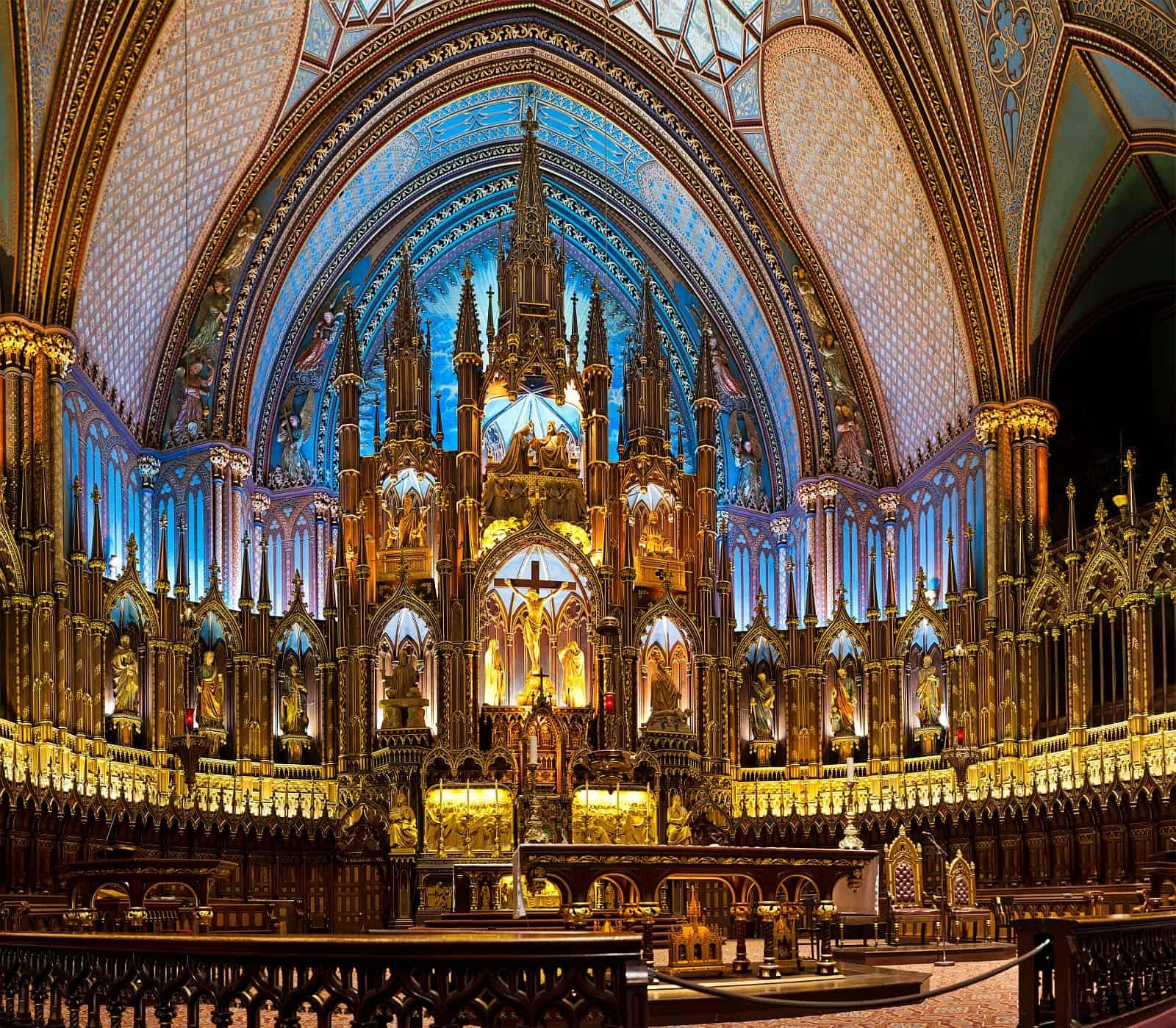 Basilika Notre Dame de Montréal.