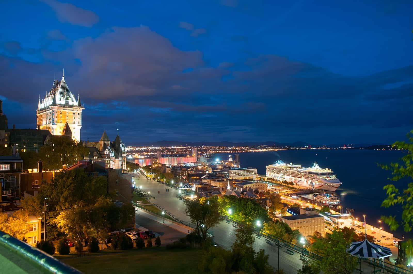 Blick von der Dufferin Terrasse auf Québec. Foto Ville de Québec