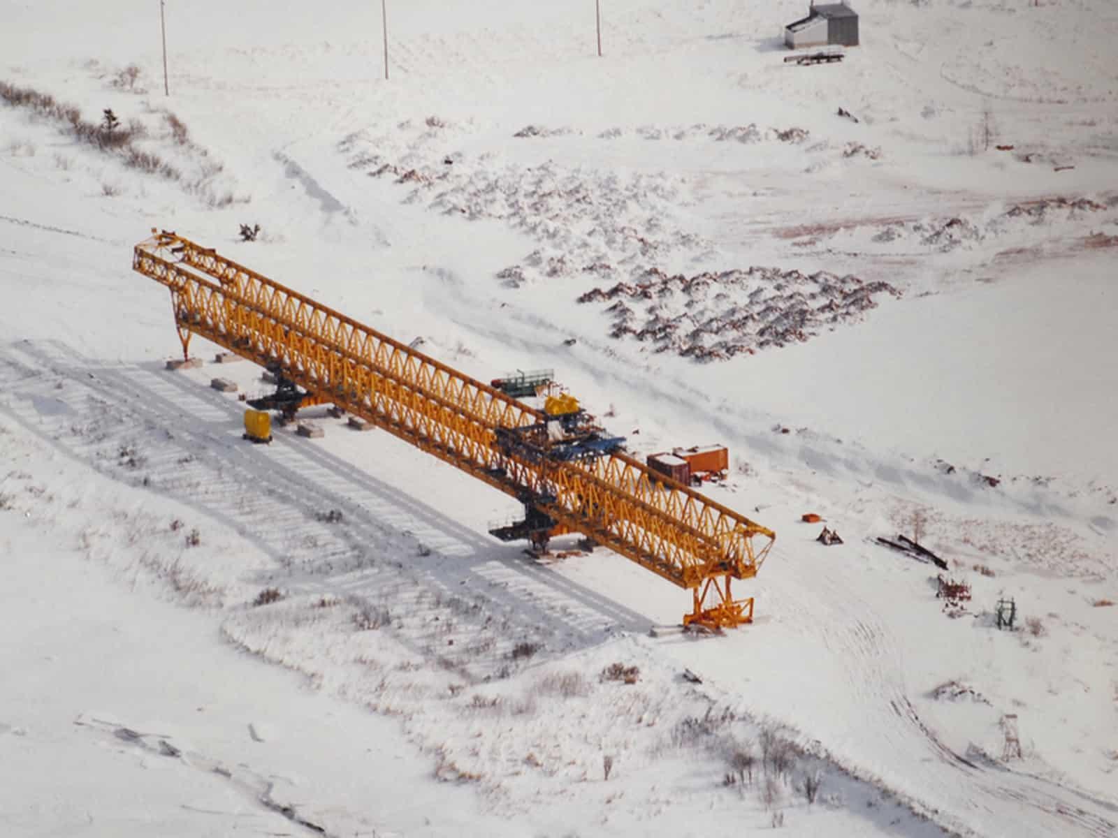 Die meisten Brückenteile der Confederation Bridge wurden an Land vorgefertigt.