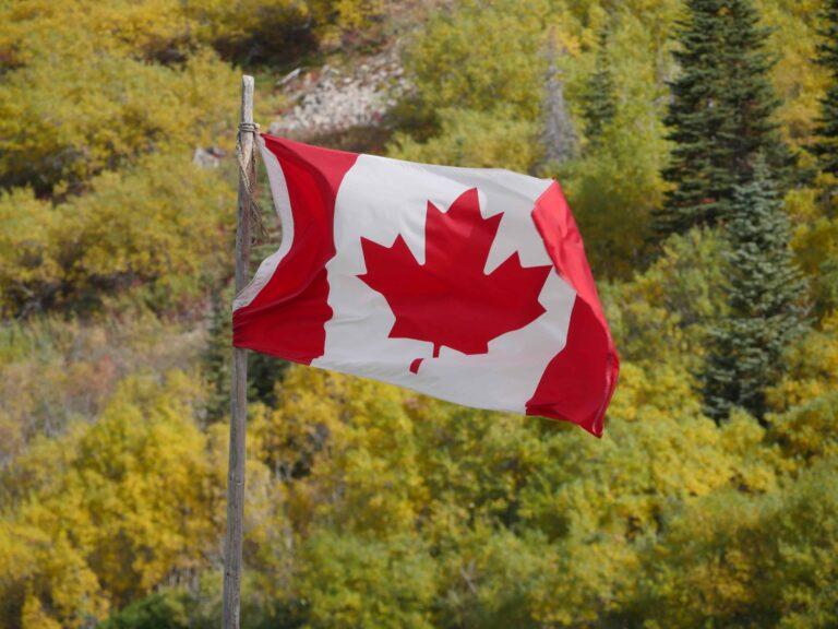 Kanada Flag. Foto Alfred Pradel