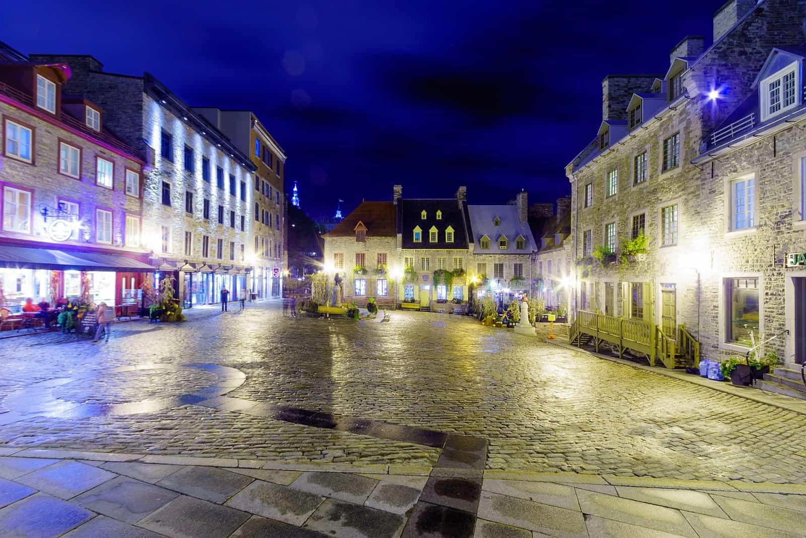 Der Place Royale, ältester Platz französischer Besiedlung in Québec City.