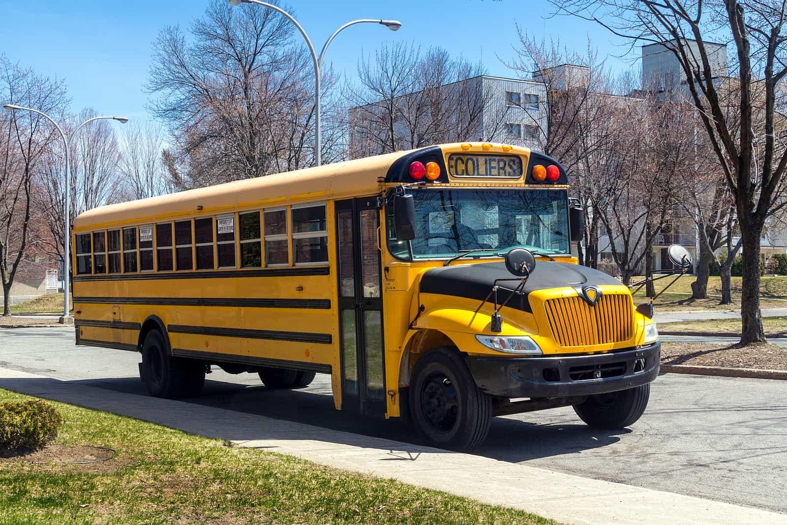 Größte Aufmerksamkeit bei Schulbussen an Haltestellen und innerhalb von Schulzonen. Sonst kann es schnell sehr unangenehm und sehr teuer werden.