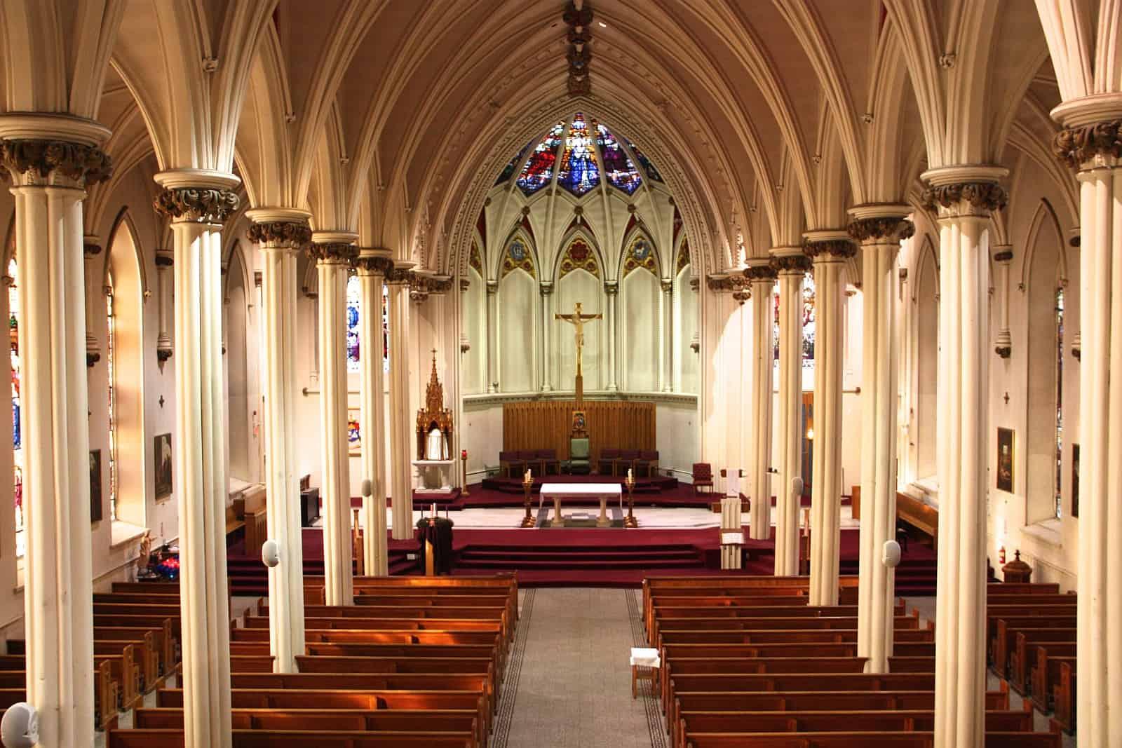 Innenraum der St. Mary's Basilika Halifax. Foto Diözese Halifax