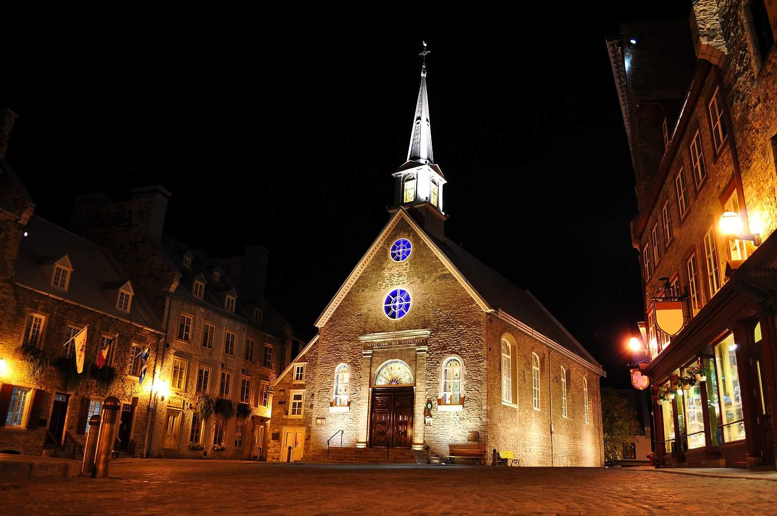 Blick auf die historische Altstadt Quebecs, Vieux-Québec.