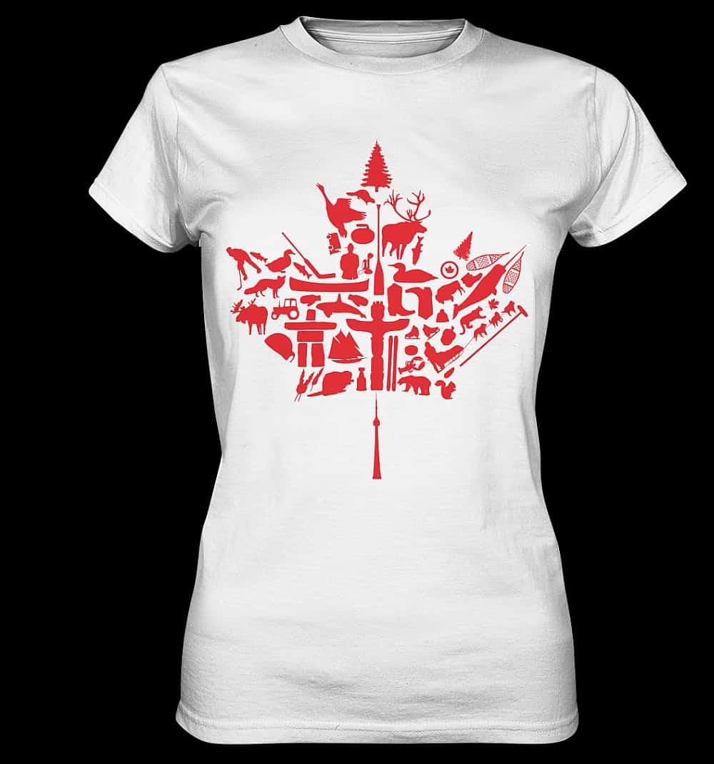 Sehr beliebt bei den Kundinnen und Kunden des Nordamerika Shop, die Premium-Shirts mit tollen Motiven aus Kanada und den USA.